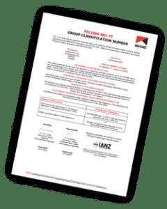 Fire Testing Certificate FI11064-TT