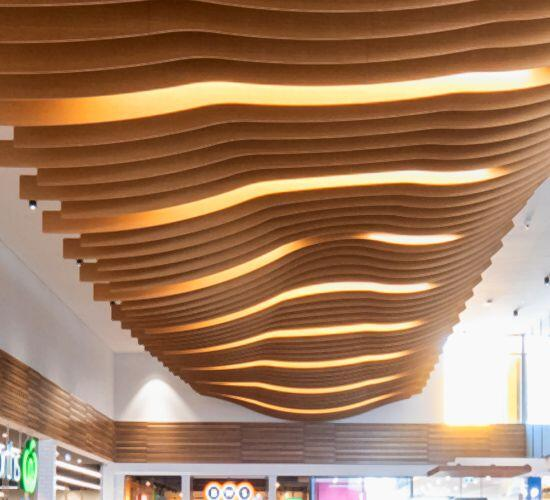 Hope Island Marketplace WAVE BLADES ceiling
