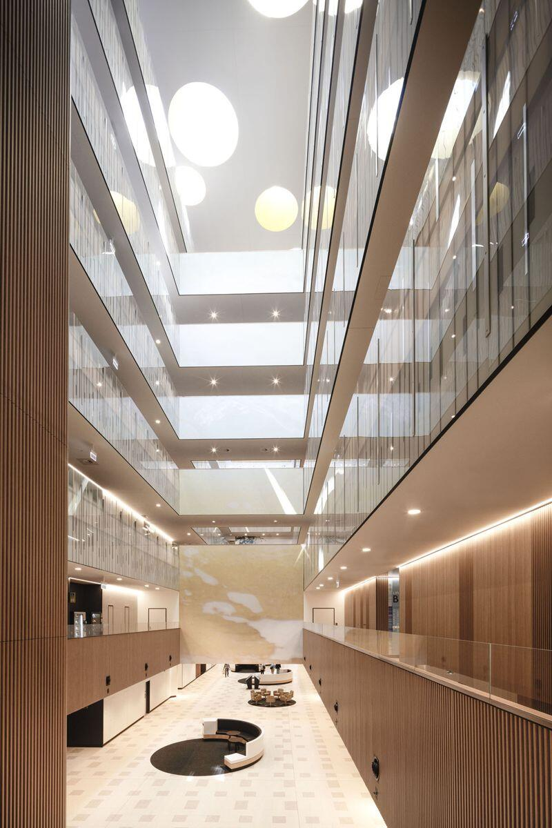 The atrium at the Northern Beaches Hospital