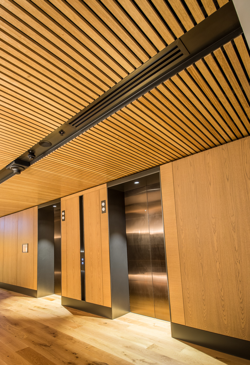 Supaslat ceiling in a lift lobby at the Ritz Carlton Hotel Perth WA