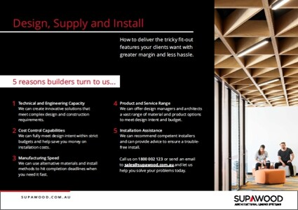 Supawood Design, Supply and Install Brochure