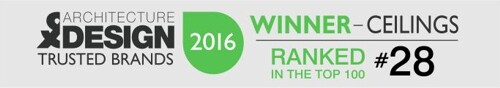TRUSTED BRANDS 2016 - Winner Ceilings - Ranked #28