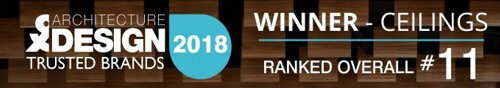 TRUSTED BRANDS 2018 - Winner Ceilings - Ranked #11